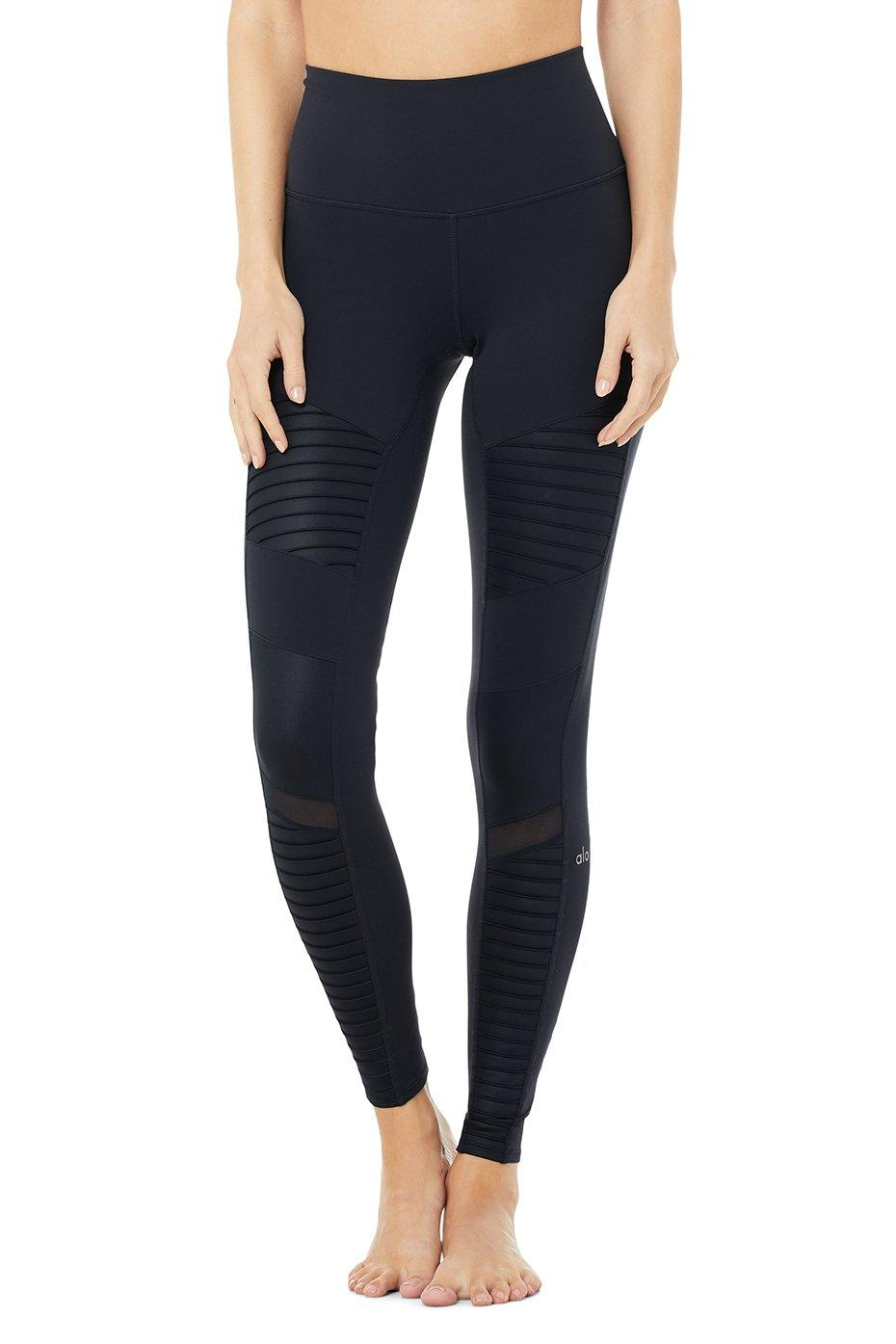 HIGH-WAIST MOTO LEGGING - on sale at Alo Yoga, $119 (originally $149).