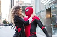 "<p>The cast have been keeping details on the third Spider-Man film mum, but logically, it will follow <a href=""https://www.popsugar.com/entertainment/Spider-Man-Far-From-Home-Postcredits-Scenes-Explained-46329068"" class=""link rapid-noclick-resp"" rel=""nofollow noopener"" target=""_blank"" data-ylk=""slk:the events kicked off in Far From Home"">the events kicked off in <strong>Far From Home</strong></a>, in which Quentin Beck exposes Peter's secret to the entire world. The main characters from <a href=""https://www.popsugar.com/entertainment/spider-man-3-movie-cast-48043942"" class=""link rapid-noclick-resp"" rel=""nofollow noopener"" target=""_blank"" data-ylk=""slk:the previous two movies"">the previous two movies</a> will return, including <a class=""link rapid-noclick-resp"" href=""https://www.popsugar.co.uk/Tom-Holland"" rel=""nofollow noopener"" target=""_blank"" data-ylk=""slk:Tom Holland"">Tom Holland</a>, <a href=""https://www.popsugar.com/Zendaya"" class=""link rapid-noclick-resp"" rel=""nofollow noopener"" target=""_blank"" data-ylk=""slk:Zendaya"">Zendaya</a>, and <a href=""https://www.instagram.com/p/CLpxI_oFrp2/"" class=""link rapid-noclick-resp"" rel=""nofollow noopener"" target=""_blank"" data-ylk=""slk:Jacob Batalon"">Jacob Batalon</a>. Several familiar faces - both from the MCU <em>and</em> Sony's Spider-Verse - are also set to make their debut in Spidey's world! Benedict Cumberbatch's Doctor Strange will step into the mentor role previously filled by Tony Stark, with reports that <a href=""https://www.popsugar.com/Jamie-Foxx"" class=""link rapid-noclick-resp"" rel=""nofollow noopener"" target=""_blank"" data-ylk=""slk:Jamie Foxx"">Jamie Foxx</a>'s Electro and Alfred Molina's Doctor Octopus are also appearing in the film. </p> <p><strong>Release date:</strong> Dec. 17, 2021</p>"