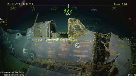 Wreckage of WW-II aircraft carrier found