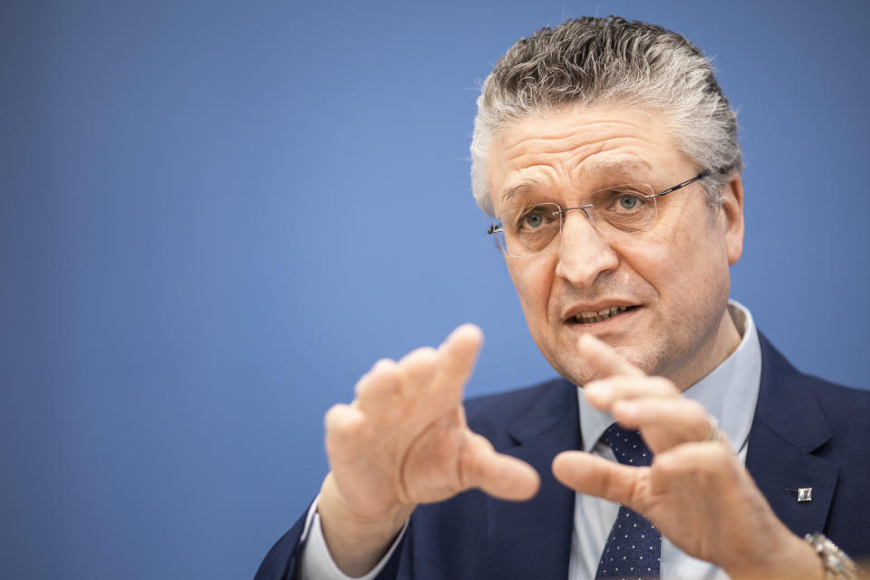 Lothar Wieler, President of the Robert Koch Institute, warned Germany could see a spike in infections. (Getty)