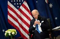 In emergency talks between angry French officials and their US counterparts, the Americans explained that Australia had approached Britain, which then facilitated talks with the new US administration of Joe Biden (AFP/Brendan Smialowski)