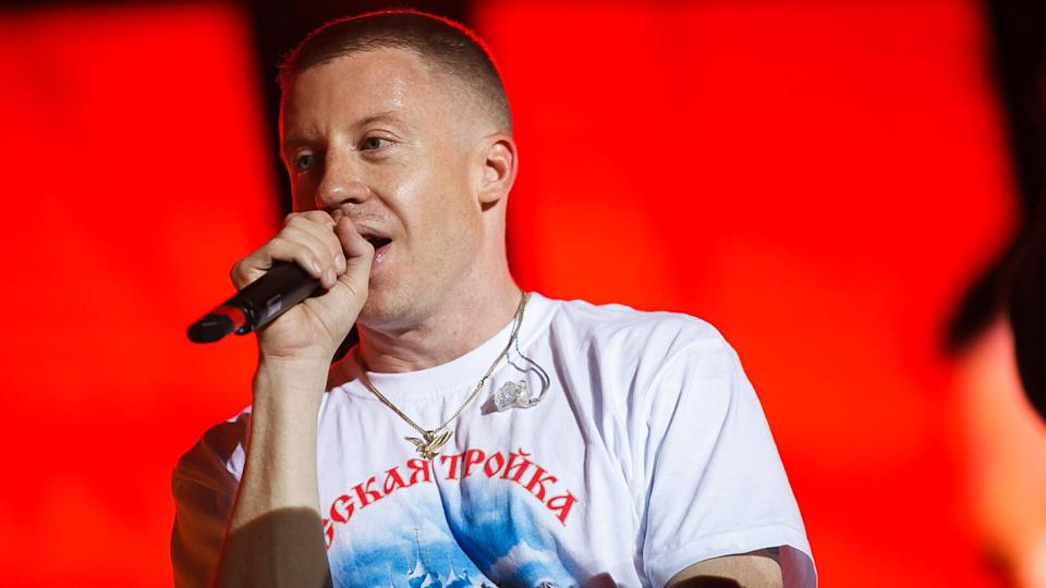 MOSCOW-7 JUNE,2016:Concert of Macklemore and Ryan Lewis rap band at outdoor summer music festival Lastochka.