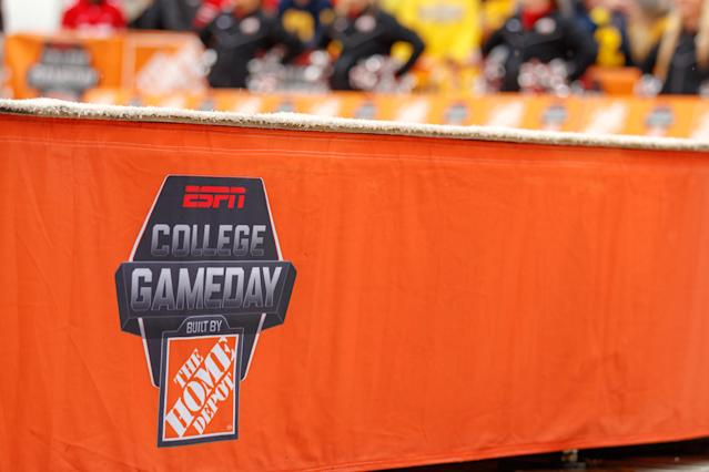 """College GameDay"" will return this fall a week earlier than normal, though it will look quite different than the usual pregame show. (Adam Lacy/Getty Images)"