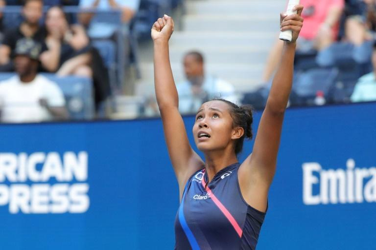 Canada's Leylah Fernandez advanced to the US Open semi-finals on Tuesday by defeating Ukraine's fifth-seeded Elina Svitolina (AFP/Kena Betancur)