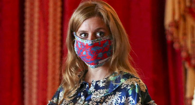 Princess Beatrice dons sought-after dress to visit her wedding dress. (Getty Images)