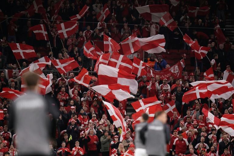 Danish fans will see their team return to the World Cup next year (AFP/Liselotte Sabroe)