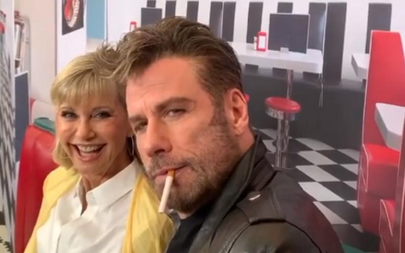 Olivia Newton-John y John Travolta reviven 'Grease' 41 años después. (Foto: Instagram / @johntravolta)