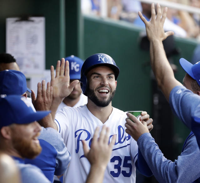 First baseman Eric Hosmer is reportedly signing with the San Diego Padres. (AP)