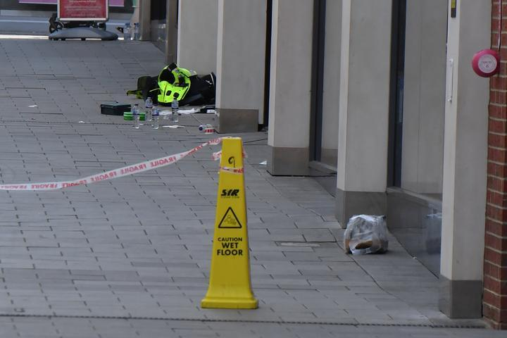 The officers were injured after being attacked at New Square Shopping Centre, in West Bromwich. (Reach)