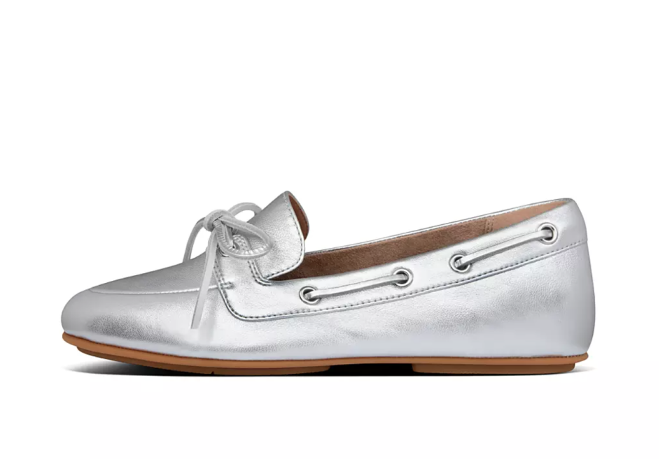 Cora Leather Lace-Up Boat-Style Shoes. Image via Fitflop.