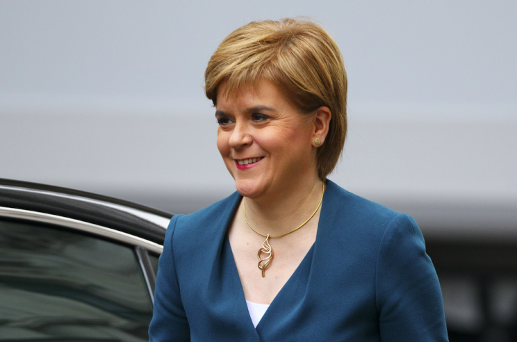 Nicola Sturgeon yesterday pulled the trigger on a second Scottish independence referendum (Rex)
