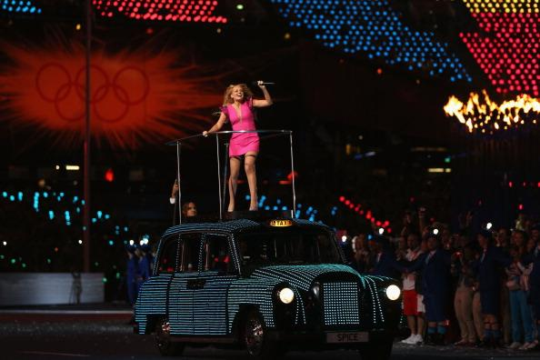 LONDON, ENGLAND - AUGUST 12:  Emma Bunton of The Spice Girls performs during the Closing Ceremony on Day 16 of the London 2012 Olympic Games at Olympic Stadium on August 12, 2012 in London, England.  (Photo by Hannah Johnston/Getty Images)