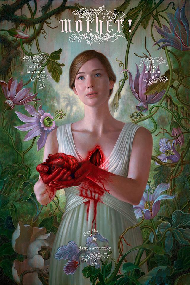 <p>A beatific Jennifer Lawrence is all heart in this painterly portrait, which hints at the twisted depths plumbed by director Darren Aronofsky in the year's most polarizing film. </p>