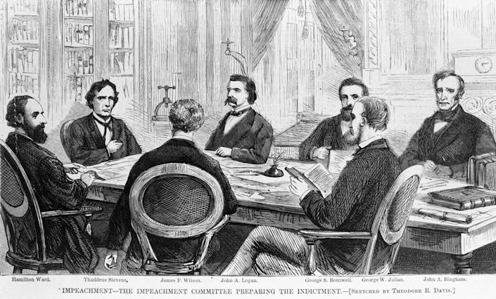 The impeachment committee prepares the indictment.