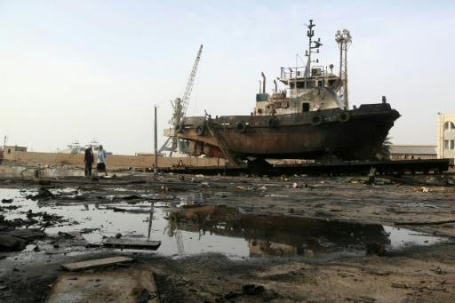 Air strike in late May damaged the maintenance hub at the Hodeidah port, where Saudi-backed Yemeni forces have now launched a major offensive to take back the city from rebels. The fighting is greatly disrupting desperately needed food aid supplies
