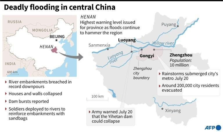 Deadly flooding in central China