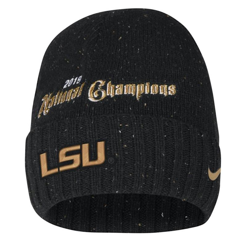 LSU College Football Playoff 2019 National Champions Knit Hat