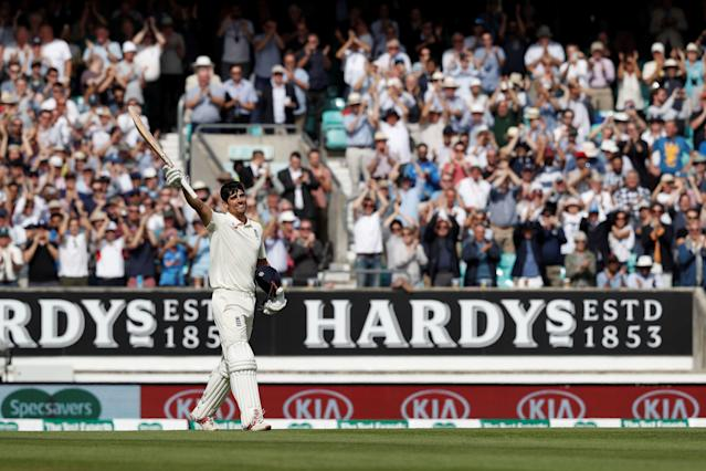 <p>Cook announced he would retire ahead of the final Test of the 2018 summer. In his 161st Test, Cook scored 71 in the first innings and then brought the house down with a fine 145 in his 291st and final innings as a Test match cricketer. (Getty Images) </p>