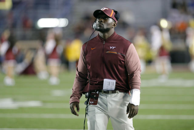 Virginia Tech abruptly announced the resignation of co-defensive coordinator Galen Scott on Friday. (Photo by Fred Kfoury III/Icon Sportswire via Getty Images)