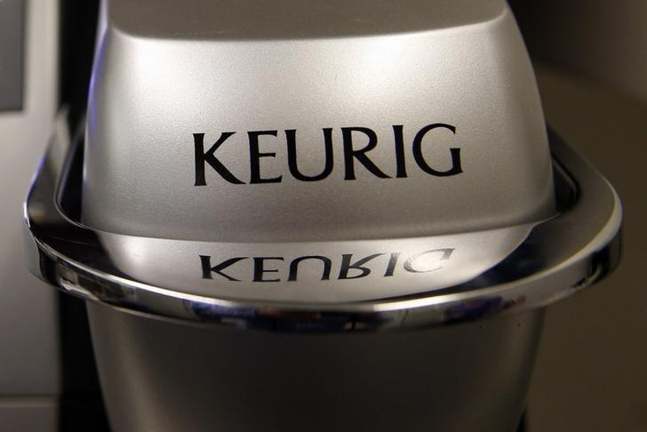 A single-serve Keurig Green Mountain brewing machine is seen in New York