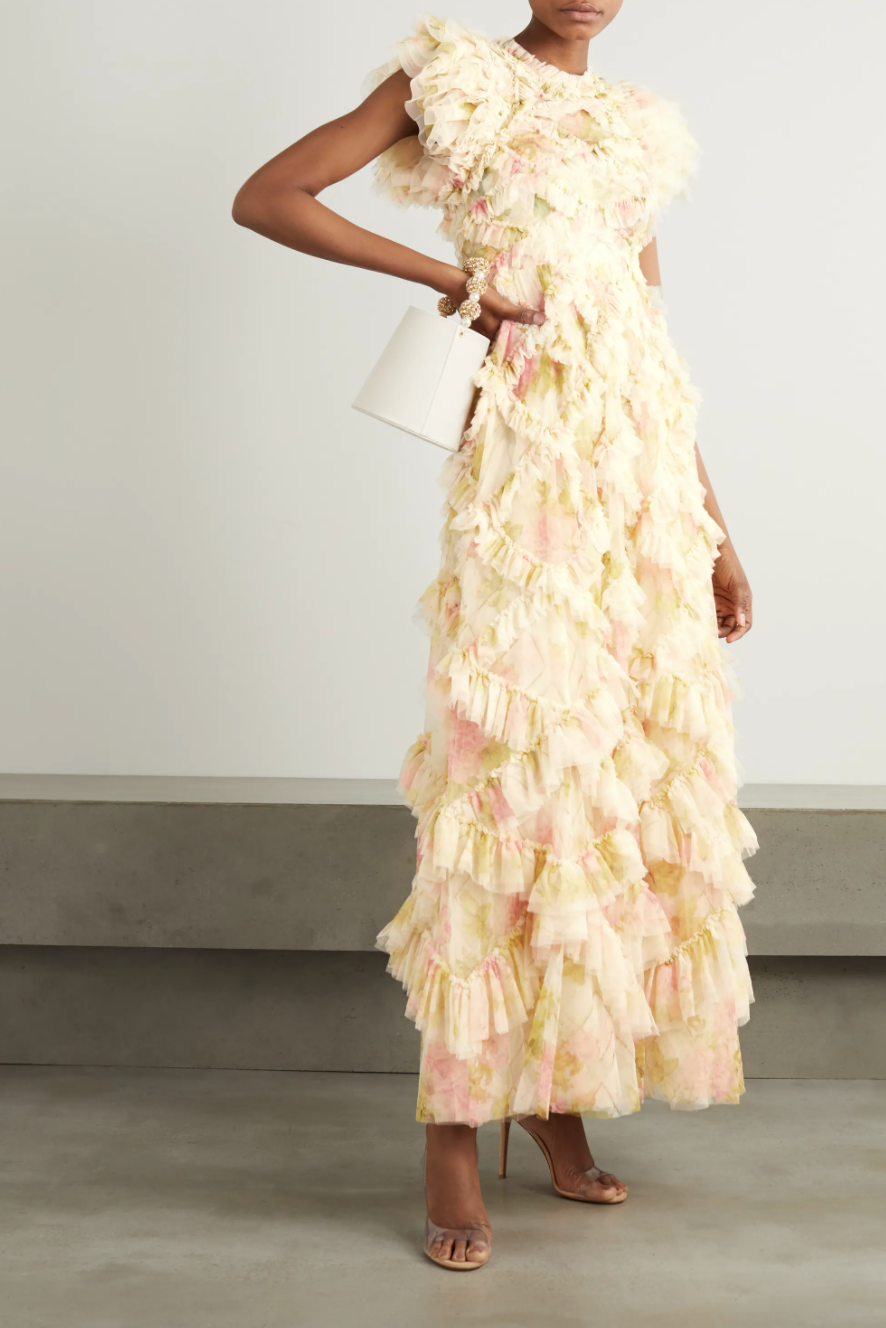 Needle & Thread 'Genevieve Rose' Tulle Gown (Photo via Net-A-Porter)