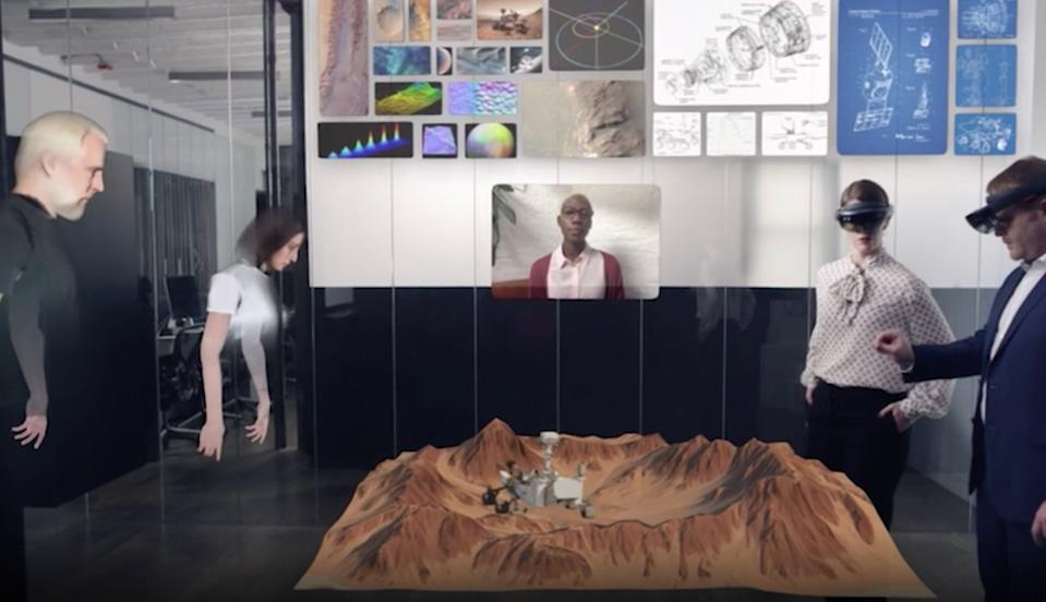 Spatial's augmented reality technology is meant to turn any space into your office. (Image: Spatial)
