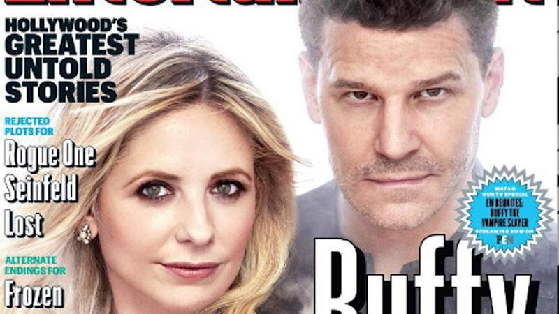 "Das Cover von ""Entertainment Weekly"" mit Sarah Michelle Gellar und David Boreanaz"