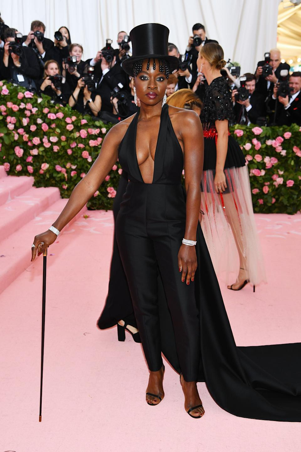 """<h1 class=""""title"""">Danai Gurira in Gabriela Hearst and Jimmy Choo Shoes with Fred Leighton jewelry</h1><cite class=""""credit"""">Photo: Getty Images</cite>"""
