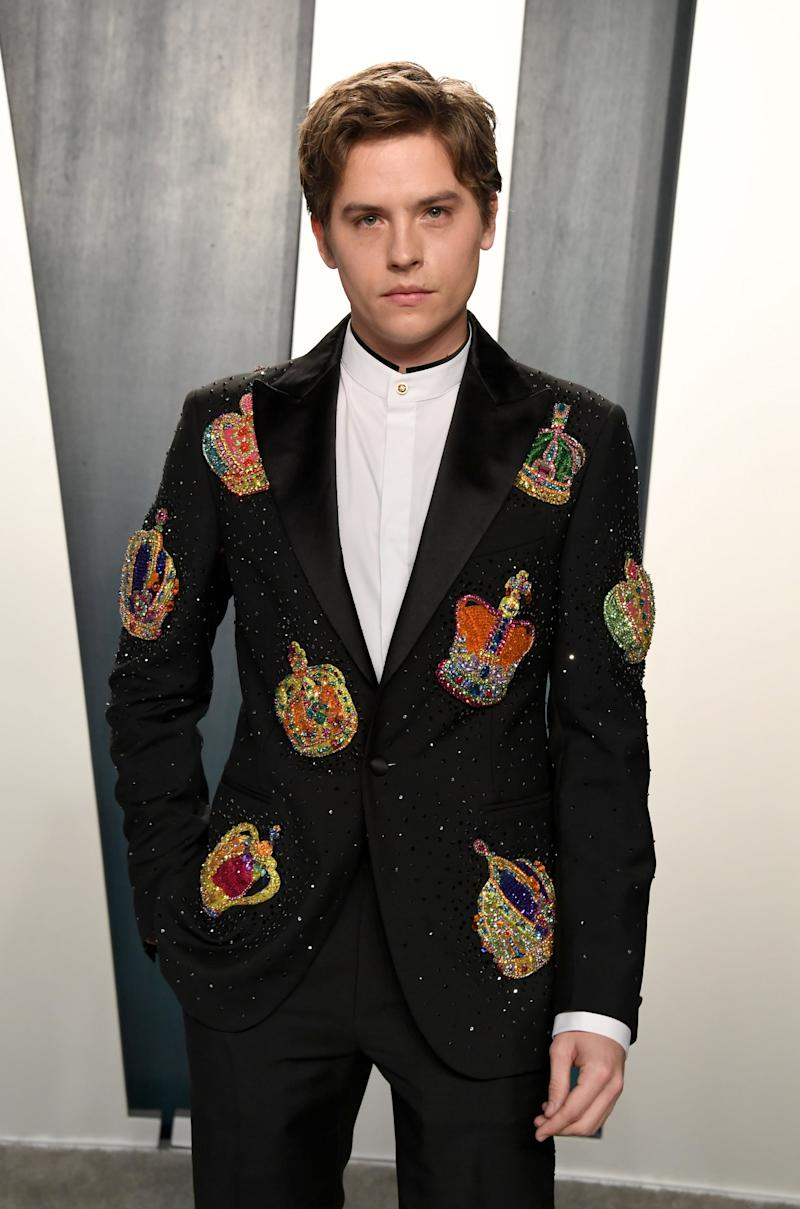 BEVERLY HILLS, CALIFORNIA - FEBRUARY 09: Dylan Sprouse attends the 2020 Vanity Fair Oscar Party hosted by Radhika Jones at Wallis Annenberg Center for the Performing Arts on February 09, 2020 in Beverly Hills, California. (Photo by Jon Kopaloff/WireImage)