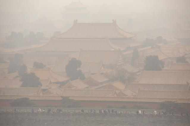 High levels PM2.5 air pollutants in China have been a serious concern in the country in recent years, caused by high levels of traffic and manufacturing. (AP)