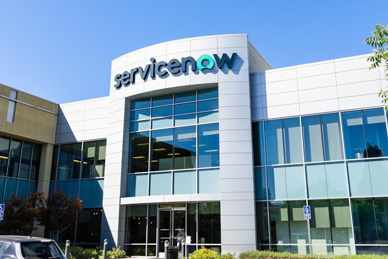 ServiceNow office building in Silicon Valley