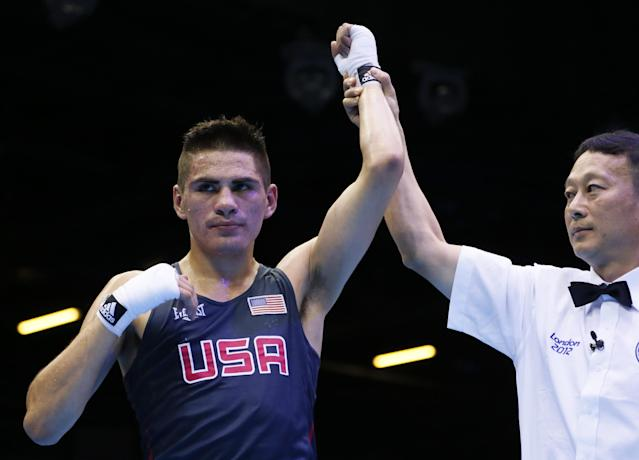 Jose Ramirez is shown in the ring during the 2012 Olympics. (Getty)