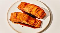 "Sounds challenging but the truth is that this recipe is just about as easy as ordering takeout. <a href=""https://www.bonappetit.com/recipe/salmon-teriyaki?mbid=synd_yahoo_rss"" rel=""nofollow noopener"" target=""_blank"" data-ylk=""slk:See recipe."" class=""link rapid-noclick-resp"">See recipe.</a>"