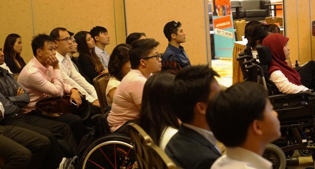 Theresa Goh and other national athletes in attendance at the ACP seminar. (Photo: SNOC Athletes' Commission)