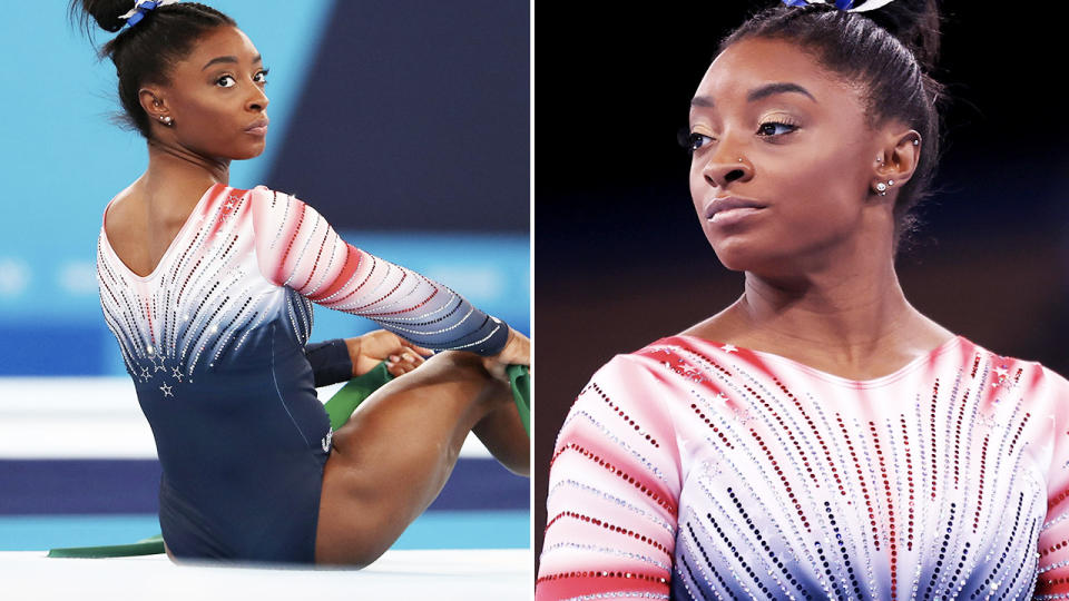 Simone Biles, pictured here in action at the Tokyo Olympics.
