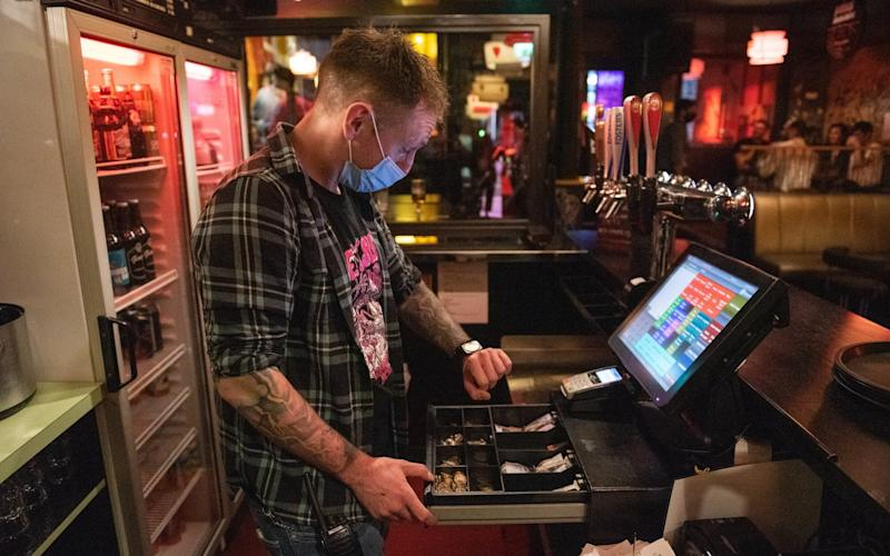 Closing time at around 10am at NicenSleazy, a famous student bar on Sauchiehall Street, Glasgow. September 25, 2020. Pictured: Rory Hughes, manager of NicenSleazy - James Chapelard