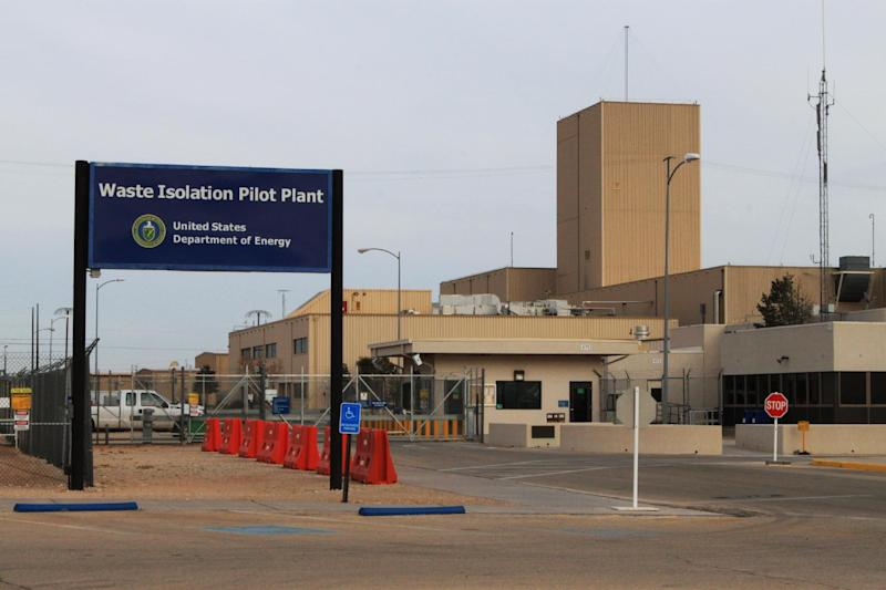 The Waste Isolation Pilot Plant, the nation's only underground nuclear waste repository near Carlsbad, N.M., remains idle on Thursday, March 6, 2014. Operations at site were halted in February following a truck fire and a release of radiation nine days later. (AP Photo/Susan Montoya Bryan)