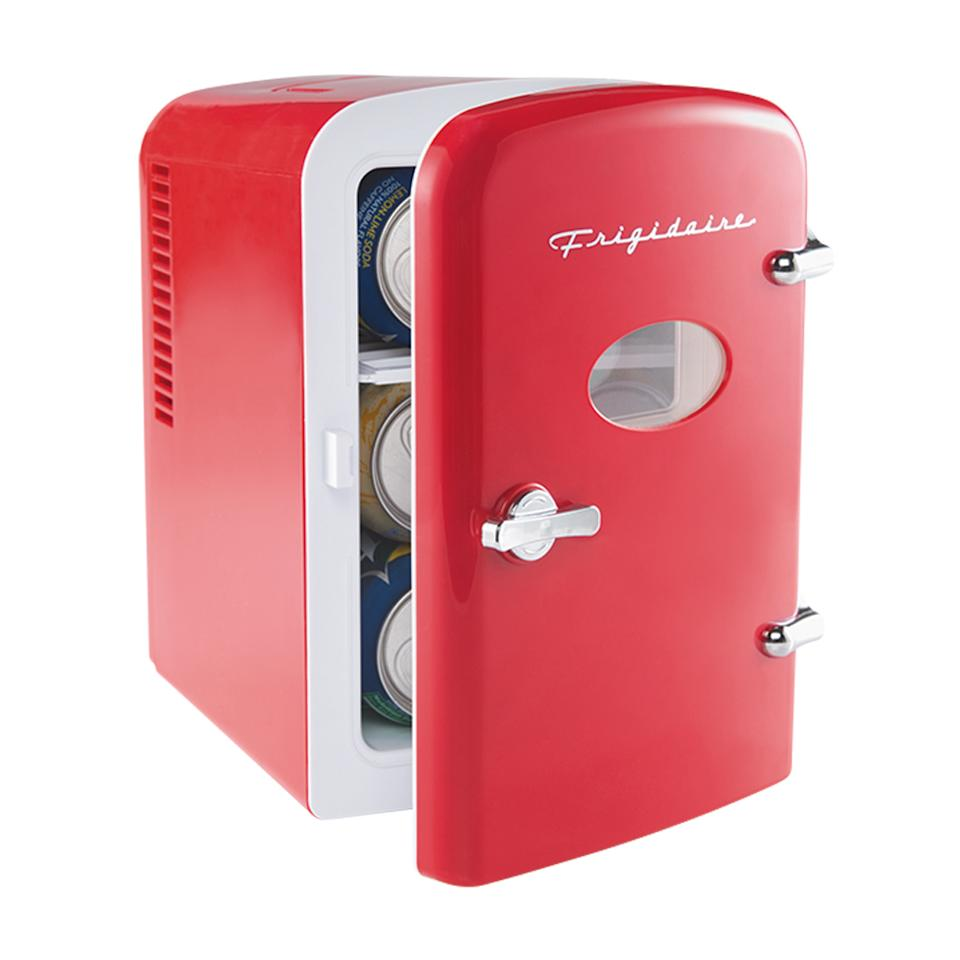 Frigidaire Portable Retro 6-can Mini Fridge EFMIS129. (Photo: Walmart)