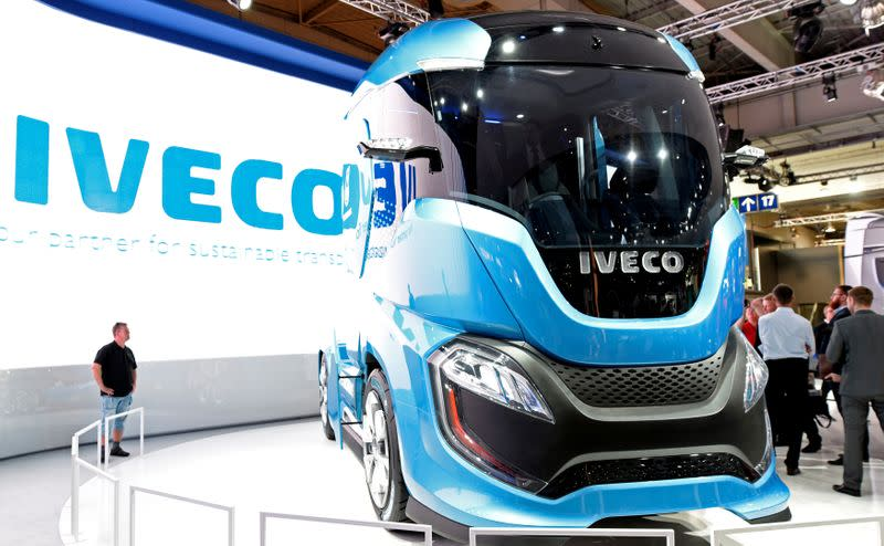 FILE PHOTO: An Iveco truck is seen at the IAA Commercial Vehicles trade show in Hanover