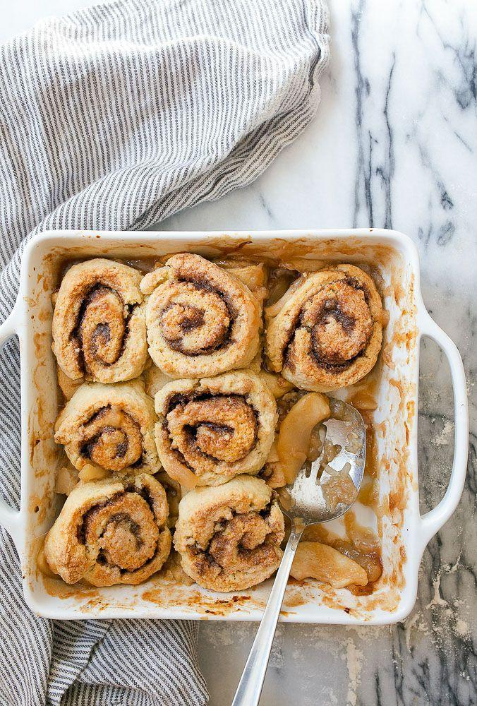 """<p>With a cinnamon roll base, this dessert can definitely <em>double</em> as breakfast!</p><p><strong>Get the recipe at <a rel=""""nofollow noopener"""" href=""""https://www.dessertfortwo.com/apple-cinnamon-roll-cobbler/"""" target=""""_blank"""" data-ylk=""""slk:Dessert for Two"""" class=""""link rapid-noclick-resp"""">Dessert for Two</a>.</strong></p><p><strong><a rel=""""nofollow noopener"""" href=""""https://www.amazon.com/Wilton-2109-6823-Recipe-Non-Stick-Brownie/dp/B07329RYLC"""" target=""""_blank"""" data-ylk=""""slk:SHOP BAKING PANS"""" class=""""link rapid-noclick-resp"""">SHOP BAKING PANS</a><br></strong></p>"""