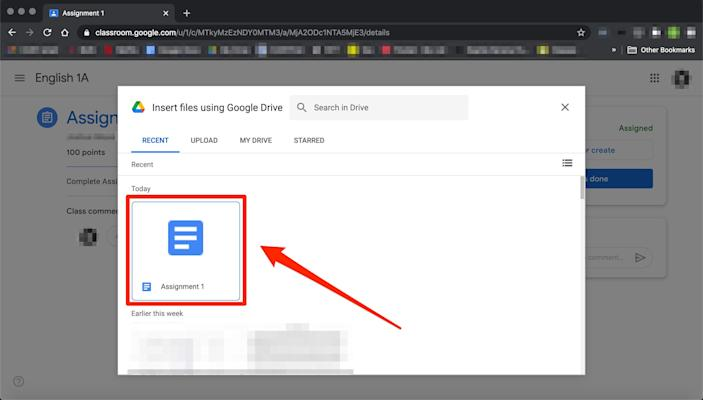 How to submit an assignment in Google Classroom   6