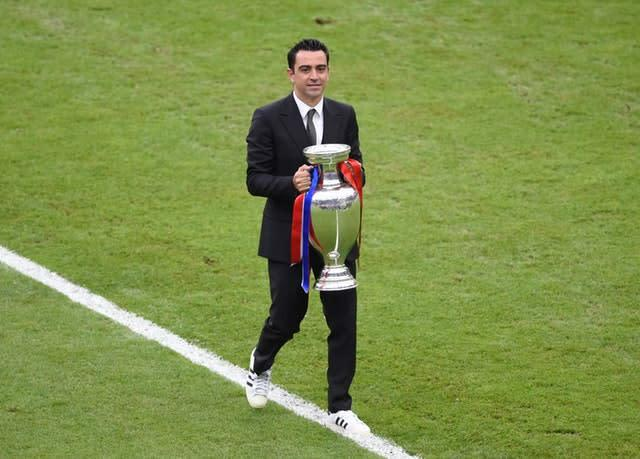 Xavi was a contender to take over at the Nou Camp (Joe Giddens/PA)