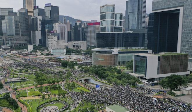 Thousands gathered outside Hong Kong's Legislative Council last June to demand the government scrap a proposed extradition bill. Photo: May Tse