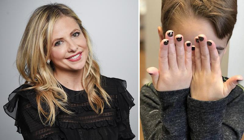 Sarah Michelle Gellar treated her son Rocky to a manicure, and the internet is divided. (Photo: Getty Images, Instagram/Sarah Michelle Gellar)