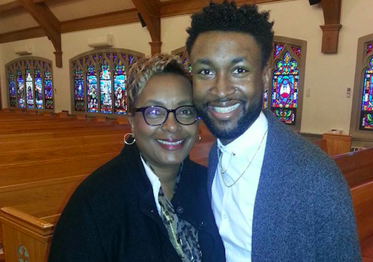 Dukes is pictured here with her 27-year-old son Maurice.