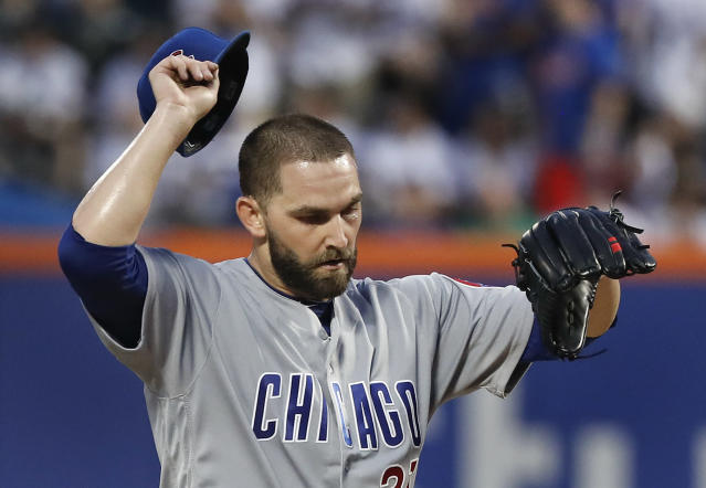 Tyler Chatwood has 56 walks in 58 innings. That is not good. (AP Photo)