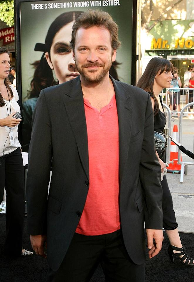 """<a href=""""http://movies.yahoo.com/movie/contributor/1800020285"""">Peter Sarsgaard</a> at the Los Angeles premiere of <a href=""""http://movies.yahoo.com/movie/1810046253/info"""">Orphan</a> - 07/21/2009"""