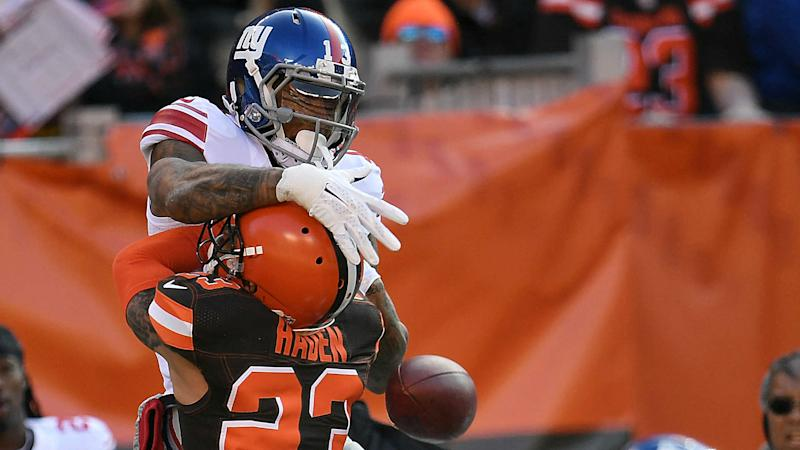 Odell Beckham Jr Injures Thumb Against Browns Returns To