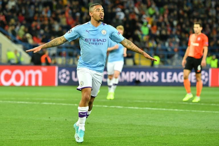 Gabriel Jesus was among the scorers as Manchester City kicked off their Champions League campaign with a routine win