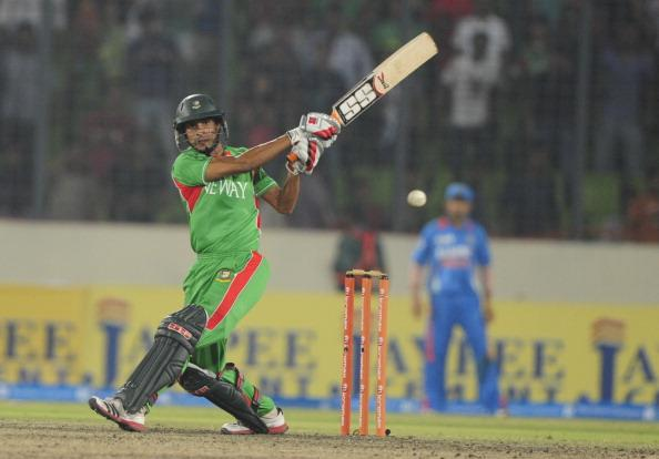 Bangladeshi batsman Nasir Hossain plays : News Photo